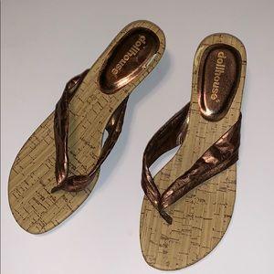 Dollhouse Bronze Kitten Heel Sandals